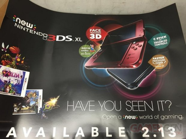 New Nintendo 3DS XL sortie annonce 14.01.2015