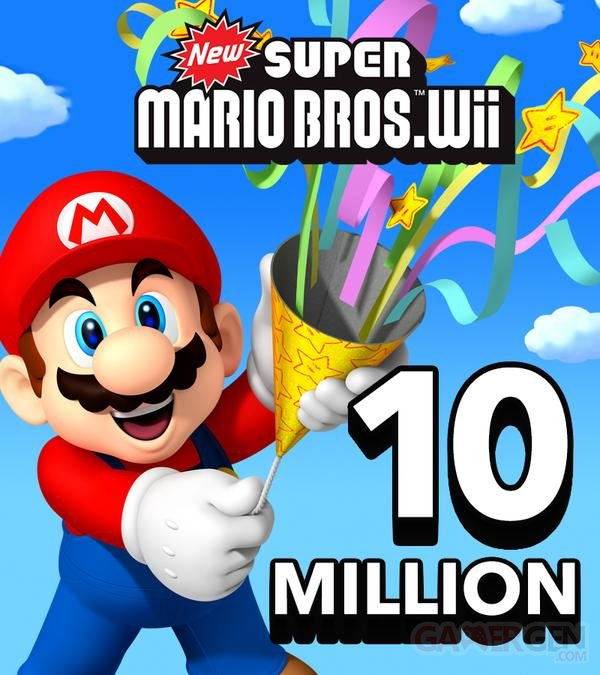 New Super Mario Bros Wii 10 millions
