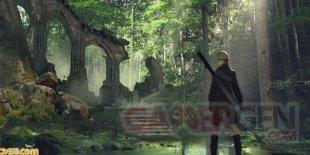 NieR Automata Forest Zone Famitsu 30 11 2016