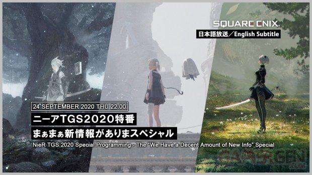 NieR livestream TGS 2020 Online
