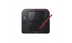 nintendo 2DS black red noire rouge
