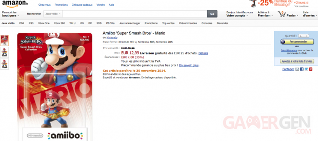 Nintendo amiibo prix Amazon