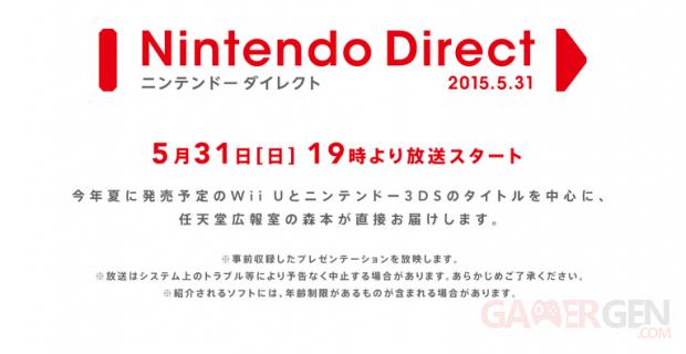 Nintendo Direct 31 mai