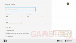 Nintendo eShop recherche 2