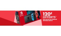 Nintendo Switch 120 euros réduction Carrefour