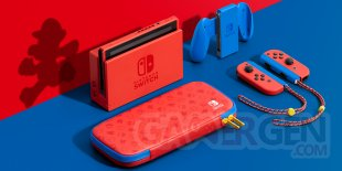 Nintendo Switch collector édition spéciale Mario rouge bleue hardware console 1