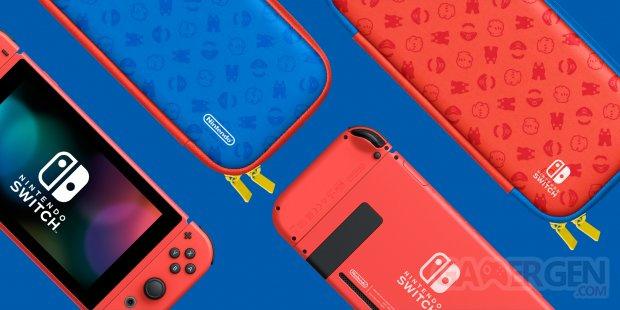 Nintendo Switch collector édition spéciale Mario rouge bleue hardware console 2