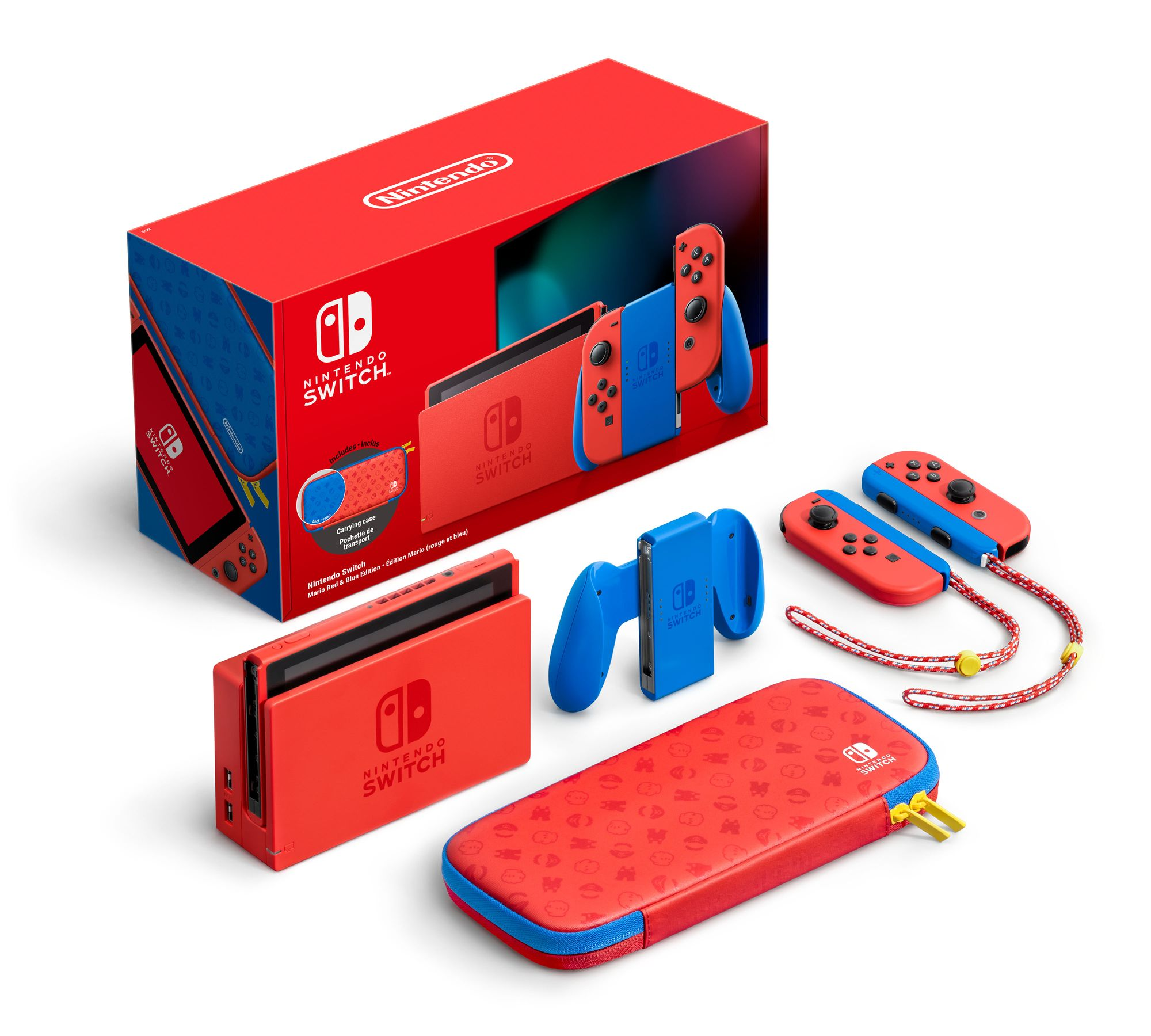 Nintendo Switch collector édition spéciale Mario rouge bleue hardware console bundle