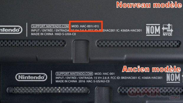 NIntendo Switch Modele Numero Image