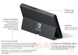 Nintendo Switch modèle OLED 06 7 2021 console hardware caractéristiques 2