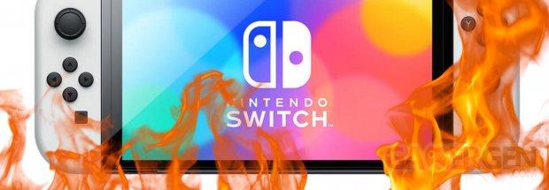 Nintendo Switch Modele OLED Feu brulure ecran image1