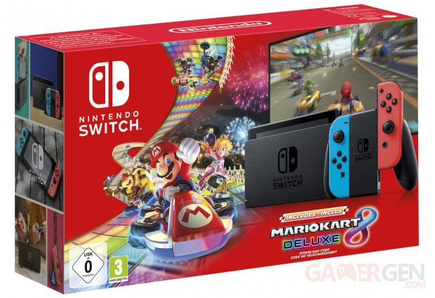 Nintendo Switch Pack Bundle Mario Kart 8 Deluxe image