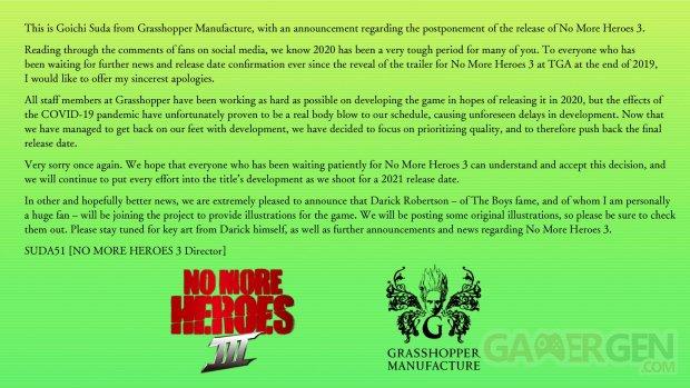 No More Heroes 3 III report