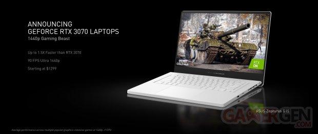nvidia geforce announcing geforce rtx 3070 laptops