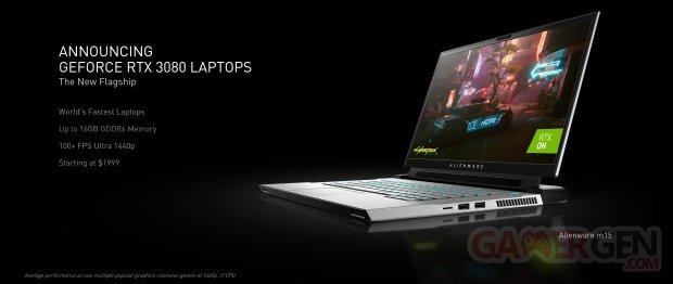 nvidia geforce announcing geforce rtx 3080 laptops
