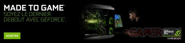 NVIDIA GTX geforce made to game 1920x455 fr
