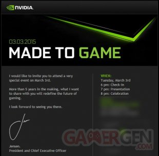 nvidia invitation made to game 1