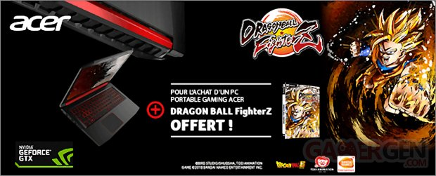 NVIDIA PC Portable Acer Dragon Ball FighterZ image