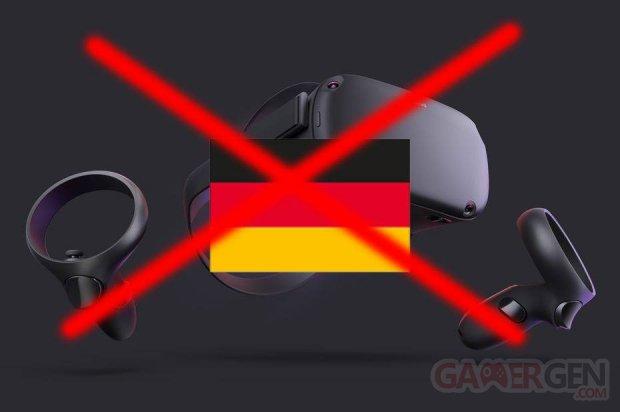Oculus interdiction RGP vente Allemagne