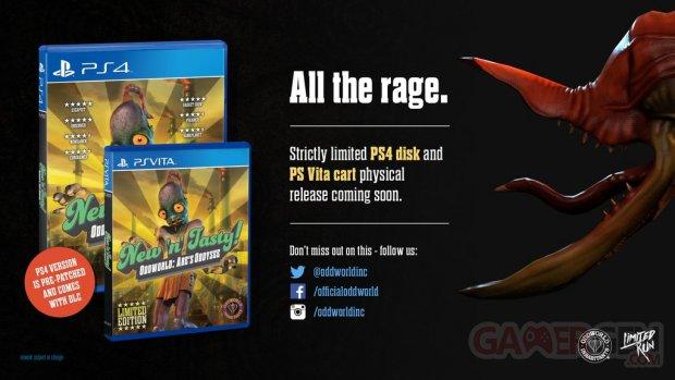 Oddworld Odyssée Abe New n Tasty version boîte PS4 PSVita