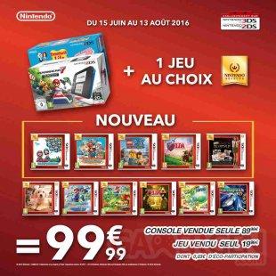 offre Auchan bon plan 2ds Nintendo Select