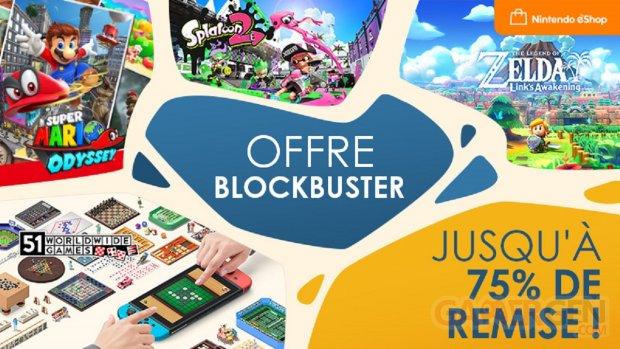 Offre Blockbuster Nintendo eShop Soldes