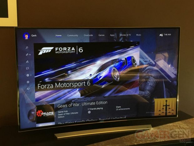 One Core Xbox 10 interface