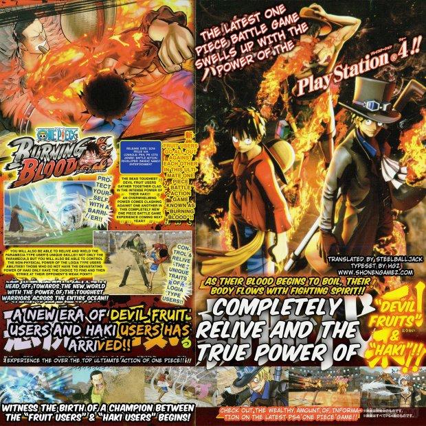 One Piece Burning Blood Scan 01 Bartolomeo Trafalgar Law English ShonenGamez BIG