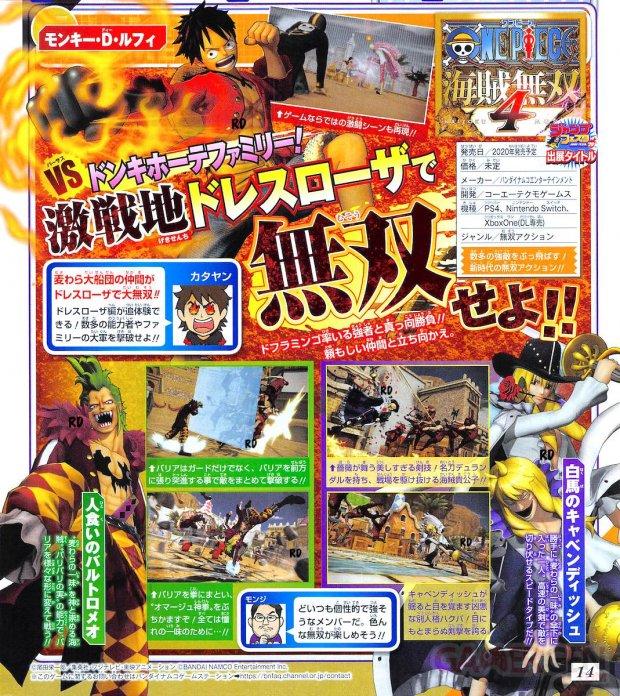 One Piece Pirate Warriors 4 scan Shonen Jump Bartolomeo Cavendish 15 11 2019