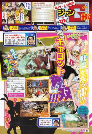 One Piece Pirate Warriors 4 scan Shonen Jump Carrot 06 09 2019