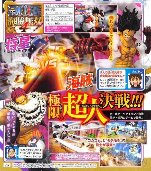 One Piece Pirate Warriors 4 scan Shonen Jump Katakuri 10 10 2019