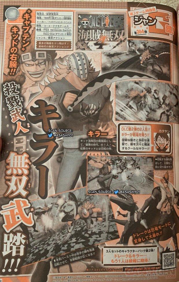 One Piece Pirate Warriors 4 scan Shonen Jump Killer 06 08 2020