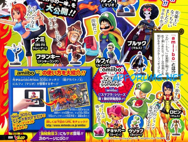 One Piece Super Grand Battle X amiibo