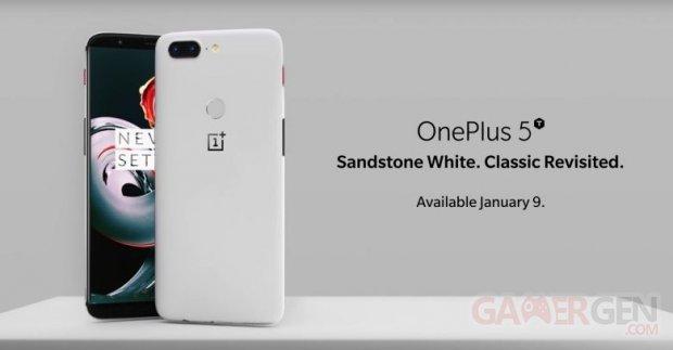 oneplus 5t sandstone white 2