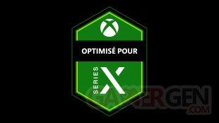 Optimisé Optimized pour for Xbox Series X icone badge logo pictogramme