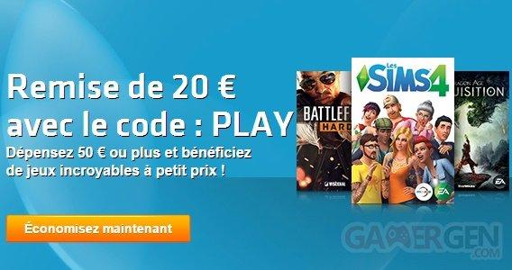 origin bon plan solde 20 euros panier 50