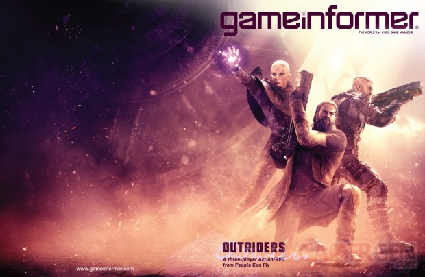 Outriders GameInformer cover