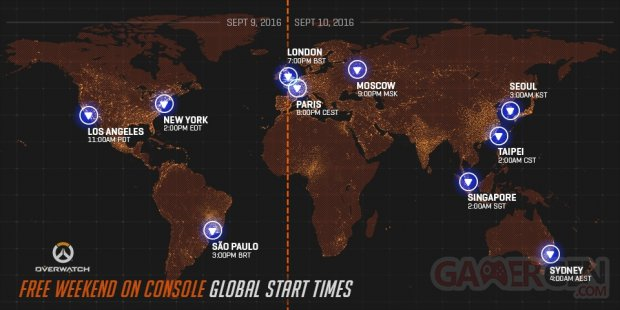 Overwatch week end gratuit carte monde horaires