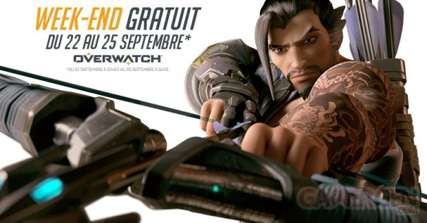 Overwatch week end gratuit septembre 2017