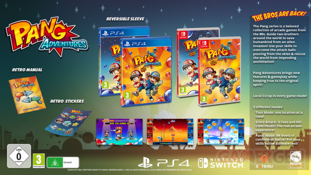 Pang Adventures Buster Edition PS4 et Switch