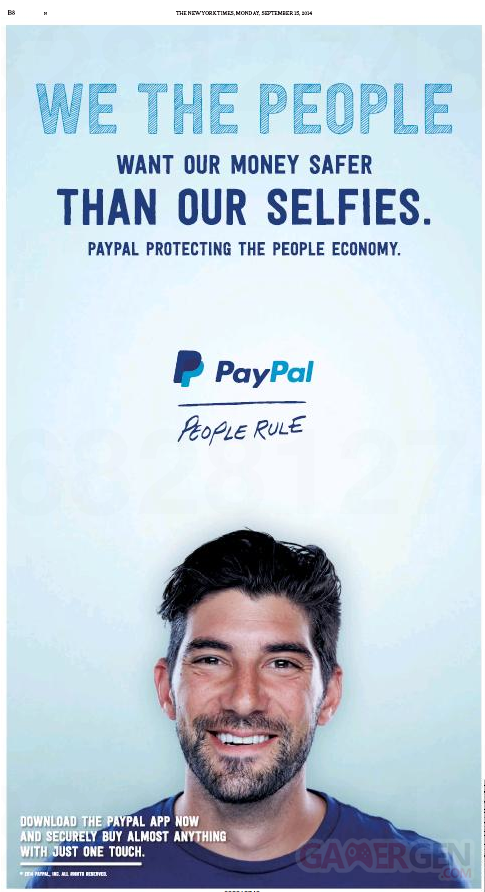paypal publicite new york times apple pay
