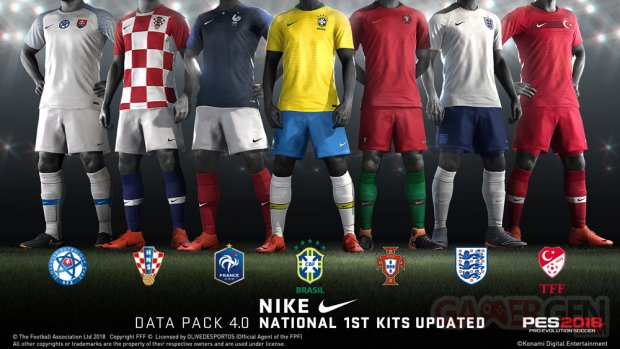 PES 2018 Data Pack 4 0 25 04 2018 National 1st Kits Nike