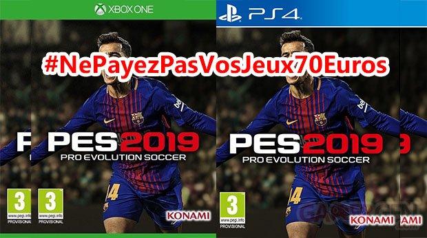PEs 2019 #NePayezPasVosJeux70Euros