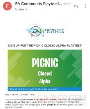 Plant vs Zombies Picnic closed alpha