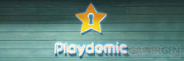 Playdemic logo head banner