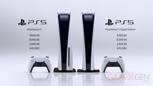 PlayStation 5 PS5 prix 16 09 2020