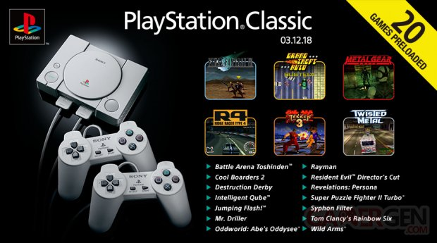 PlayStation Classic line up 29 10 2018
