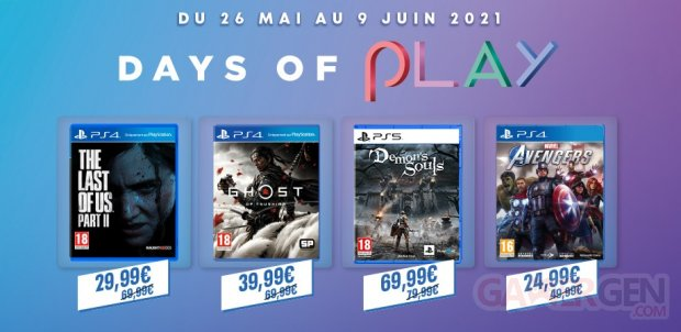 PlayStation Days of Play 2021 head soldes