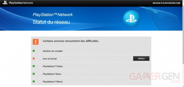 PlayStation Network PSN panne 12 07 2018