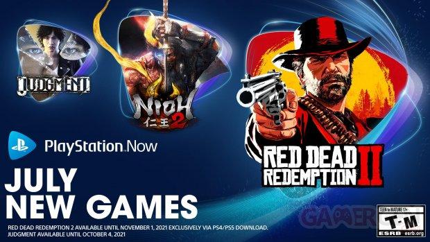 PlayStation Now 05 07 2021 juillet